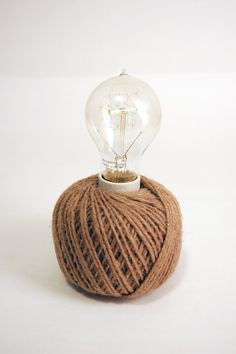 Ball of Twine Lamp