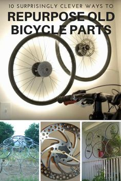 10 Surprisingly Clever Ways To Repurpose Your Old Bicycle Parts - I used to let my old bike collect dust, but now I'm inspired to try one of these upcycle ideas. #10 would look so good on any porch!