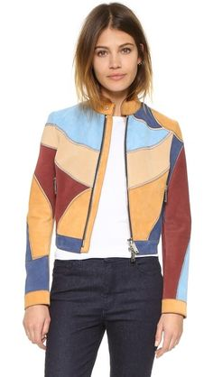 DSQUARED2 Patchwork Nubuck Jacket
