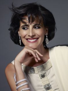 Ines de la Fressange's beauty portrait from the Festival de Cannes 2013.