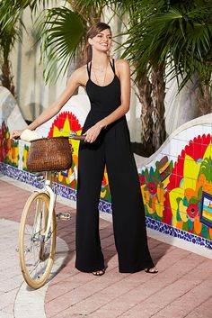 Casual meets cool when you're riding around town in a chic wide-leg jumpsuit, RACHEL Rachel Roy