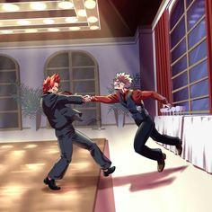 Kirishima Eijirou x Bakugou Katsuki / Boku no Hero Academia Boku No Hero Academia, My Hero Academia Memes, Hero Academia Characters, My Hero Academia Manga, All Out Anime, Anime Guys, Hiro Big Hero 6, Bakugou Manga, Kirishima Eijirou