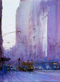 Impressionistic watercolor painting by Australian artist Joseph Zbukvic. Quite lovely and ethereal. Check out his other paintings online of a similar feel.