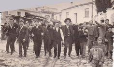 1960, Wedding Procession in Velvento, Greece