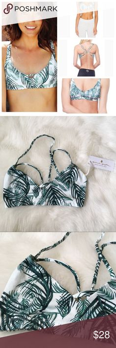 Spiritual Gangster Strappy Ballet Bra Palms Small Comfy & soft sports / dance bra. New With tags. Palm pattern. Small. Last picture is sports bra size chart for spiritual Gangster. 2 available Spiritual Gangster Intimates & Sleepwear Bras