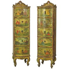 Pair of Venetian Lingerie Cabinets | From a unique collection of antique and modern commodes and chests of drawers at https://www.1stdibs.com/furniture/storage-case-pieces/commodes-chests-of-drawers/