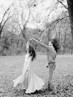 A candid shot of the couple dancing is a must for any engagement or wedding photos!