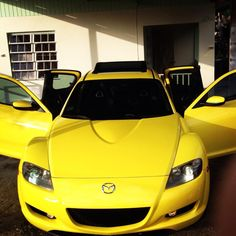 Sunny Yellow Mazda RX-8....how sweet it is! (My bby) ha