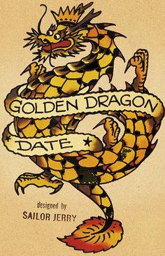 Trendy tattoo dragon old school sailor jerry Ideas Navy Tattoos, Sailor Tattoos, Tatoos, Nautical Tattoos, Geometric Tattoos, Leg Tattoos, Traditional Tattoo Old School, Traditional Tattoo Flash, Traditional Sleeve