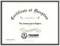 We Received Our Diploma From Trump University!