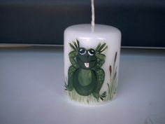 I paint these candles...free-hand