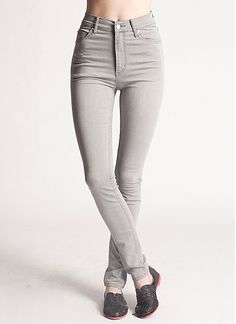 Second Skin Denim Greyed Out High Waist Jeans