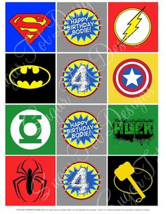 Superhero Cupcake Toppers and Avengers Party Pack{at SugarTot Designs: the store}