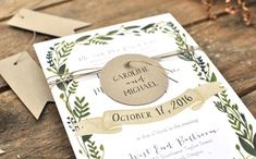 "Nature Inspired Wonderland Wedding Invitations | Smitten on Paper ""Save the Date"""