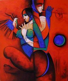 Arvind Kolapkar, The Beauty See_1, Acrylic on Canvas, Size: 30X36, INR 76,000…