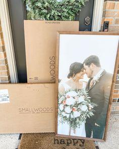 Photo Album Display, Photo Displays, Smallwood Home, Photos Encadrées, Our Wedding, Dream Wedding, First Home, Plant Decor, Custom Framing