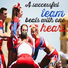 A successful team beats with one heart Cheerleading Pics, Cheer Stunts, Dance Team Gifts, Cheer Dance, Cheer Coaches, Cheer Mom, Cheer Quotes, Cheer Sayings, Cheer Pictures