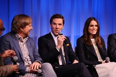 Keira Knightley Photos Photos - Director Morten Tyldum, actor Benedict Cumberbatch and actress Keira Knightley at the official Academy members screening of The Imitation Game on November 18, 2014 in New York City. - Official Academy Members Screening Of The Imitation Game
