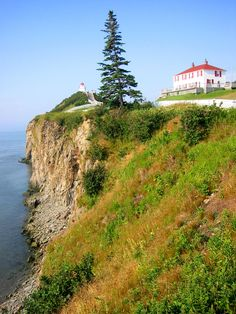This is a different angle of Cape Enrage Lighthouse, New Brunswick, Canada. We usually stop here on our way to visit Fundy National Park. O Canada, Canada Travel, Canada Summer, Canada Trip, Visit Canada, Great Places, Beautiful Places, Places To Visit, Amazing Places