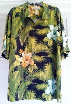 Tommy Bahama Tropical Rum Shirt - XL Extra Large - Hawaiian - 100% Silk - Rare!