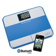 WiTscale S1F Bluetooth Smart Bathroom Scale Body Fat w Large Backlit Display and StepOn Technology for Galaxy S6 Note5 iPhone6Ssupport Apple HealthKit iPad air 2 ** Read more reviews of the product by visiting the link on the image. Note:It is Affiliate Link to Amazon.