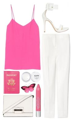 """""""atomic pink"""" by rosiee22 ❤ liked on Polyvore featuring TIBI, Pierre Balmain, Passport, NYX, BCBGMAXAZRIA and Isadora"""