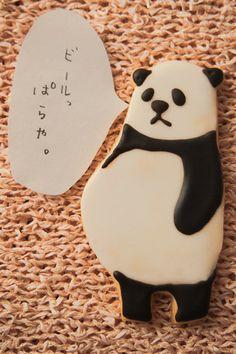 chubby panda cookie