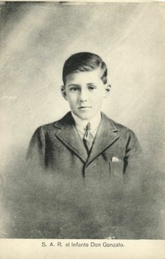 The Infante Don Gonzalo (1914-1934) was the youngest child of King Alfonso XIII and Queen Victoria Eugenia of Spain.  He was also plagued with the hemophilia carried down from his great-grandmother Queen Victoria.  He tried to lead an active and normal life but died from blood loss following a car wreck at the age of 19.