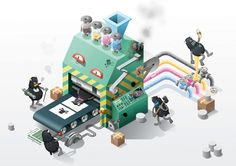 Design an Isometric Infographic, #Drawings, #Illustration, #Illustrator, #Infographic, #Isometric, #Tutorial, #Vector