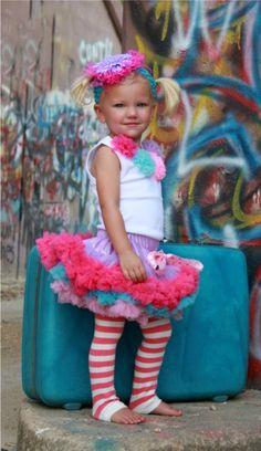 Beautiful little girl    (Sweet Candy Girls Rosette Top Pettiskirt Set)