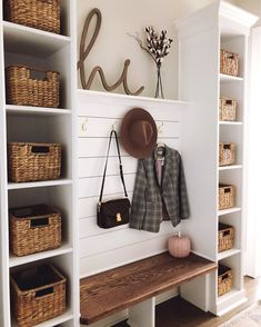 Furniture, Home Organization, Mudroom Decor, Home Projects, Interior, Home, Home Remodeling, House Interior, Home Renovation
