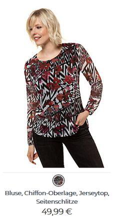 Damenbluse Chiffon-Oberlage Chiffon, Blouse, Long Sleeve, Sleeves, Tops, Women, Fashion, Silk Fabric, Moda