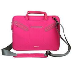 Evecase Carrying Messenger Bag with Handle and Shoulder Strap for MacBook Pro 13 - Hot Pink