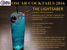 Oscar Cocktails Bonus: The Lightsaber, inspired by Star Wars: The Force Awakens