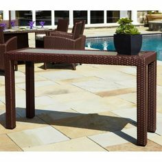 Anacara Atlantis All-Weather Wicker Console Table by Anacara Co. $849.99. Beautifully blending elegant and contemporary designs, the Anacara Atlantis All-Weather Wicker Console Table is a lovely addition to any outdoor furniture set. Crafted from strong and durable resin wicker that is weather-proof and won't fade, mold, or crack, this wicker can stay outdoors all year long. The Bordeaux resin weave is designed to easily blend in with any decor so you can add it to any ...