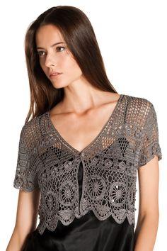Free Crochet Pattern Shrug Bolero   Boleros Crochet Pattern Free Patterns   Kamistad Celebrity Pictures ...