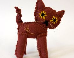 Etsy の grey tweed cat messy little kitty by namelesswonders