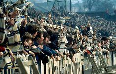 Leeds United fans at Elland Road in 1972