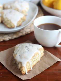 Lemon Poppyseed Scones // www.completelydelicious.com by Completely Delicious
