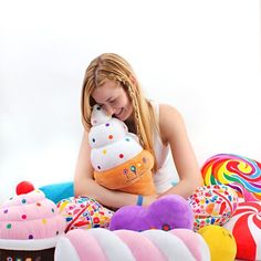 An ice cream cone pillow! Dylan's Candy Bar