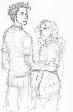 Percy Jackson and Annabeth Chase Fan Art by Burdge. Percy Jackson Books, Percy Jackson Fandom, Percabeth, Burdge Bug, Percy And Annabeth, Annabeth Chase, Character Art, Character Design, Oncle Rick