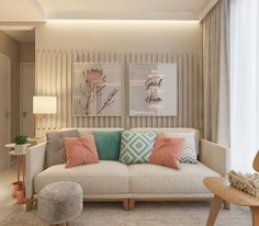 Low Budget Home Decoration Ideas Interior Salas Deco Simple Living Room Decor, Small Room Decor, Small Rooms, Home And Living, Pastel Home Decor, Colorful Decor, Funky Decor, Accent Walls In Living Room, Living Rooms
