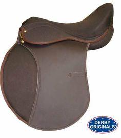 "Derby Originals All Purpose Synthetic English Saddle Havana 18"" . $99.00"