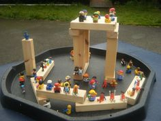 Blocks and LOTS of assorted small world 'people'