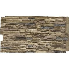 Ekena Millwork Canyon Ridge Stacked Stone ft Colfax Faux Stone Veneer at Lowe's. Increase the value of your residential or commercial property with our stunning faux stone siding. Renovating your exterior or interior project just got Stone Siding Panels, Faux Stone Siding, Stone Veneer Panels, Faux Stone Walls, Vinyl Wall Panels, Wood Panel Walls, Wood Wall, Wall Tile, Stacked Stone Panels