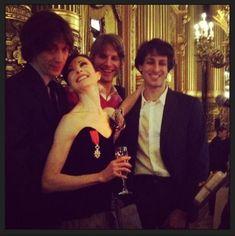 La danseuse Étoile Isabelle Ciaravola, Hervé Moreau, Karl Paquette et Mathieu Ganio. Image Lapetitephotographe 2 mars 2014.