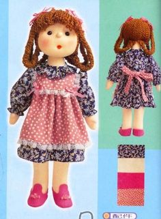 We sew cute dolls Doll Patterns, Clothing Patterns, Felt Crafts, Diy And Crafts, Cute Dolls, Toddler Toys, Little Princess, Doll Toys, Pixie