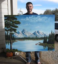 a commissioned painting by Kevin Hill a commissioned painting by Kevi . - a commissioned painting by Kevin Hill a commissioned painting by Kevin Hill - Kevin Hill Paintings, Bob Ross Paintings, Oil Paintings, Canvas Painting Landscape, Landscape Art, Bob Ross Landscape, Pictures To Paint, Art Pictures, Bob Ross Art