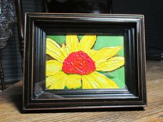 ACEO Signed OriginalYellow by PotpourriPenny on Etsy