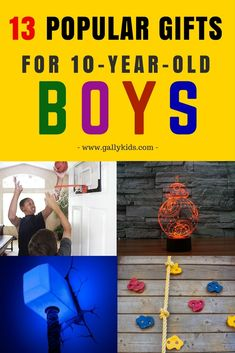 Unique and perfect gift ideas for 10 year old boys. Ideas for boys who like sports, science toys, robotics and Christmas Gifts For 10 Year Olds, 10 Year Old Gifts, Christmas Ideas, Holiday Gifts, Birthday Party For Teens, Birthday Gifts For Boys, Birthday Ideas, 10th Birthday, Husband Birthday